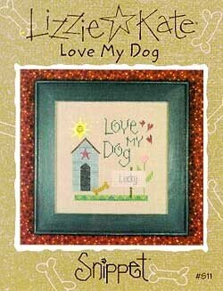 Love My Dog - Cross Stitch Pattern