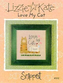 Love My Cat - Cross Stitch Pattern