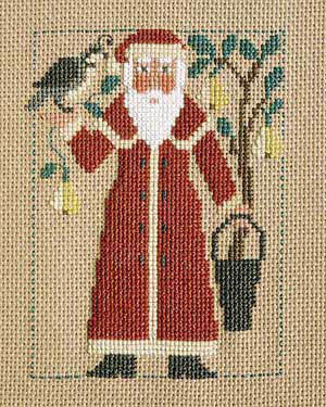 2001 Schooler Santa - Cross Stitch Pattern
