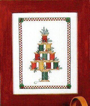 Christmas Spool Tree - Cross Stitch Pattern