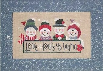 Love Keeps Us Warm - Cross Stitch Pattern