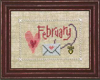 Flip-It Charm February - Cross Stitch Pattern