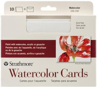 "Watercolor Cards & Envelopes 5""X6.875"" 10/PK"