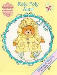 Roly Polys April - Cherished Teddies Cross Stitch Pattern