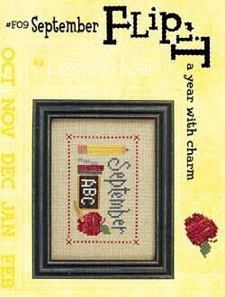 Flip-It Charm September - Cross Stitch Pattern