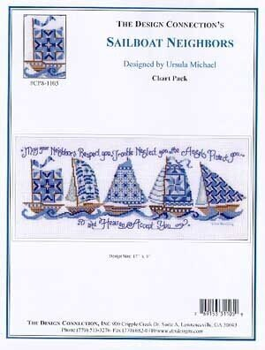 Sailboat Neighbors - Cross Stitch Pattern