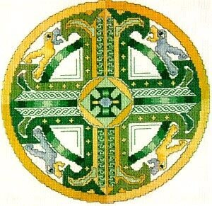 Celtic Emerald Cross - Cross Stitch Pattern