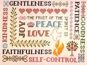 Galations 5:22 and 23 - Cross Stitch Pattern