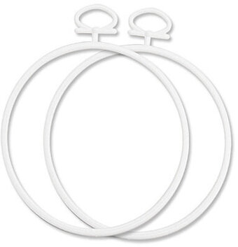 Janlynn 2.5 Inch Round White Frame, 2 Per Package 021-0308 ...