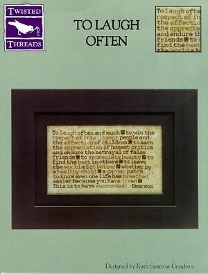 To Laugh Often - Cross Stitch Pattern