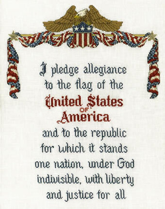 An American's Pledge - Cross Stitch Pattern