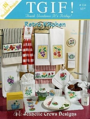 Retro Kitchen (TGIF) - Cross Stitch Pattern