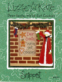 Dear Santa We've Got Cookies - Cross Stitch Pattern