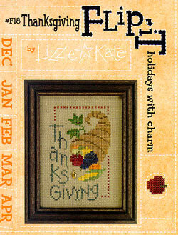 Flip-It charm - Thanksgiving - Cross Stitch Pattern