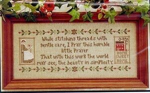 Stitcher's Prayer, A - Cross Stitch Pattern