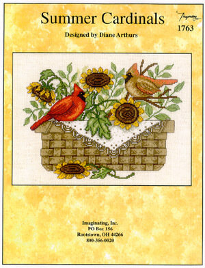 Summer Cardinals - Cross Stitch Pattern