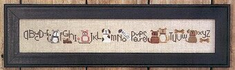 Puppy Dog Row - Cross Stitch Pattern
