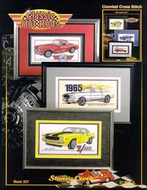 Classic Hot Rods - Cross Stitch Pattern