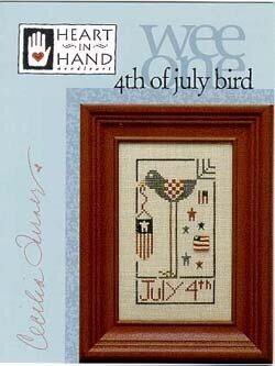 4th of July Bird - Cross Stitch Pattern