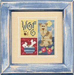 Flip It Blocks WOOF! - Cross Stitch Pattern
