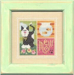 Flip It Blocks MEOW! - Cross Stitch Pattern