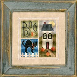 Flip-It Blocks w/ charm - October - Cross Stitch Pattern