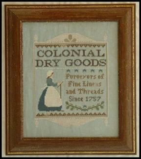 Colonial Dry Goods (Americana Country) Cross Stitch Pattern
