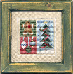 Flip-It Block December - Cross Stitch Pattern