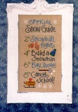 Official Snow Guide - Cross Stitch Pattern