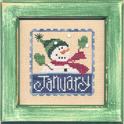 Flip-It Stamp January - Cross Stitch Pattern