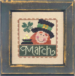 Flip-It Stamp March - Cross Stitch Pattern