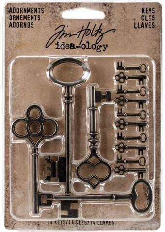 Silver Keys Idea-Ology Metal Adornments