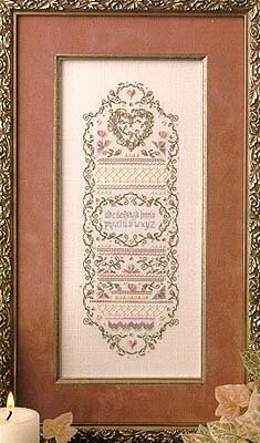 Sentimental Heart Sampler - Cross Stitch Pattern