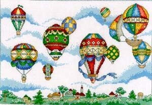 Balloon Festival - Cross Stitch Pattern