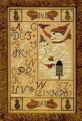 Snowman Button Sampler - Cross Stitch Pattern