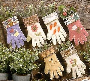 Garden Gloves - Cross Stitch Pattern