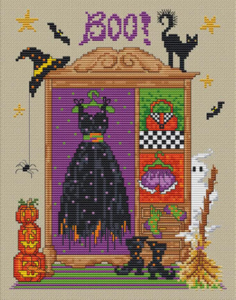 Hazel's Wardrobe - Cross Stitch Pattern