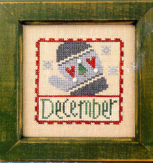 Flip-It Stamp December - Cross Stitch Pattern