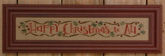 Happy Christmas Row - Cross Stitch Pattern
