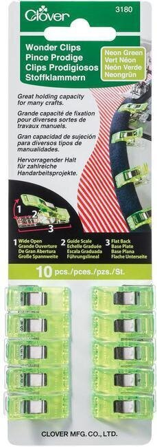 Neon Green 10/Pkg Wonder Clips