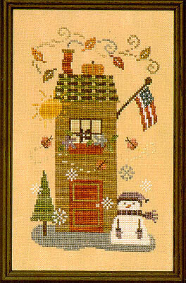 Four Seasons House - Cross Stitch Pattern