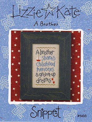Brother, A - Cross Stitch Pattern