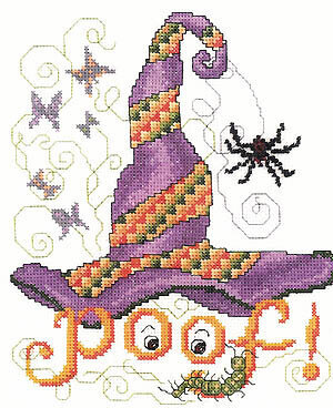 Poof Hat - Cross Stitch Pattern