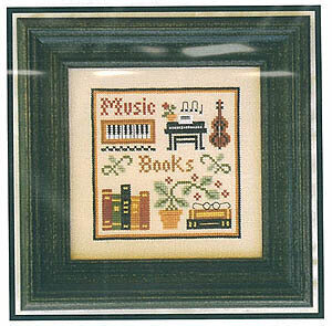 Music & Books (Simple Sampler) - Cross Stitch Pattern