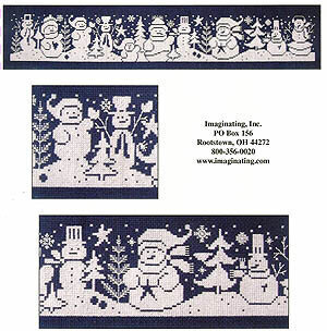 Snowmen Gathering - Cross Stitch Pattern