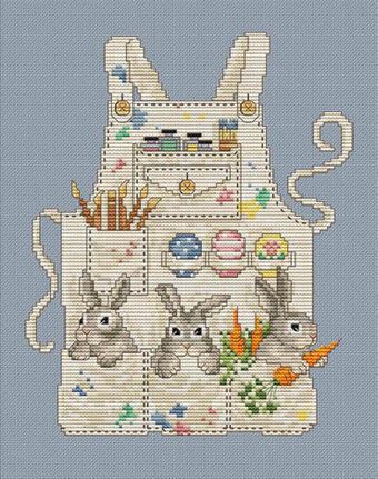 Easter Bunny's Apron - Cross Stitch Pattern