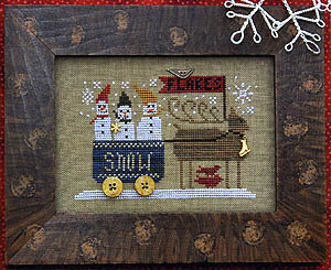 Delivering Snow - Cross Stitch Pattern