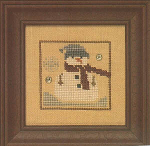Snappers Red Thread  - Snowman - Cross Stitch Pattern