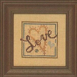 Snappers Red Thread  - Heart of Love - Cross Stitch Pattern