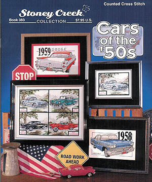 Cars Of The 50's - Cross Stitch Pattern